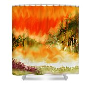 Timber Blaze Shower Curtain