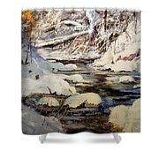 Timber Creek Winter Shower Curtain