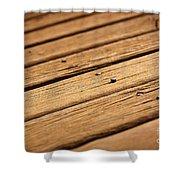 Timber Decking Shower Curtain