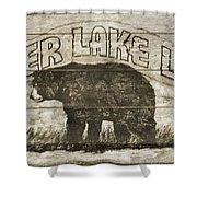 Timber Lake Lodge Shower Curtain