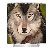 Timber Wolf In Summer Shower Curtain