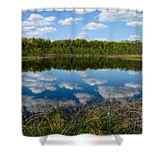 Timberland Lake Shower Curtain