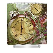 Time 5 Shower Curtain