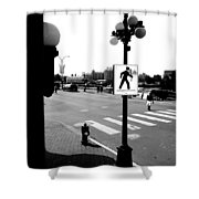 Time And Routes  Shower Curtain