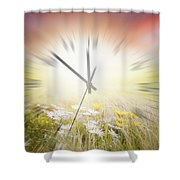Time Blurred Shower Curtain