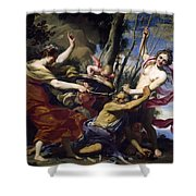 Time Defeated By Hope Love And Beauty Shower Curtain