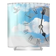 Time Flies Shower Curtain