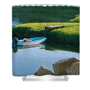 Time For Fishing Shower Curtain