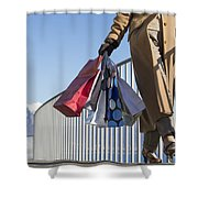 Time For Shopping Shower Curtain