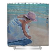 Time For Treasures Shower Curtain by Holly Kallie
