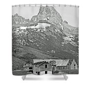 Time Forgotten Bw Shower Curtain