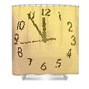 Time Fracture Shower Curtain