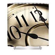 Time Goes By Shower Curtain