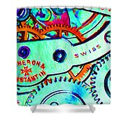 Time In Abstract 20130605m36 Long Shower Curtain