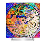 Time In Abstract 20130605p180 Square Shower Curtain
