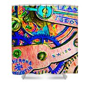 Time In Abstract 20130605p180 Shower Curtain