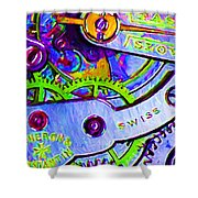 Time In Abstract 20130605p36 Shower Curtain