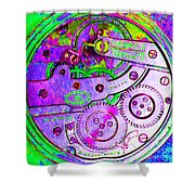 Time In Abstract 20130605p72 Square Shower Curtain