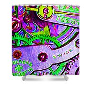 Time In Abstract 20130605p72 Shower Curtain