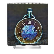 Time In The Sand In Negative Shower Curtain