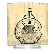 Time In The Sand In Sepia Shower Curtain