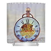 Time In The Sand Shower Curtain