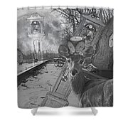 Time Is A Target Shower Curtain