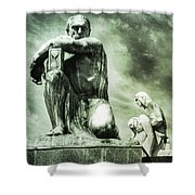 Time Keeper Shower Curtain