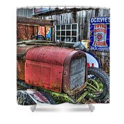 Time Marches On Shower Curtain