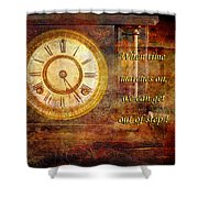 Time Marching Shower Curtain
