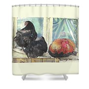 Chicks Taking A Time Out Shower Curtain