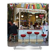 Time Out Snack Bar In Bath England Shower Curtain