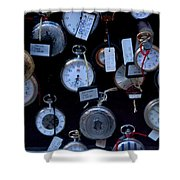 Time Piece Shower Curtain