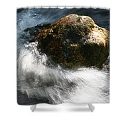 Time Rushing By Shower Curtain