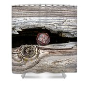 Time Rust Rot Shower Curtain