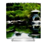 Time Slows For Meditation Shower Curtain