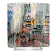 Time Square New York Shower Curtain