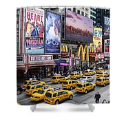 Time Square On A Week Day Shower Curtain