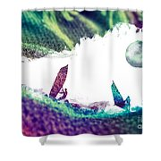 Time Surfer Shower Curtain