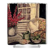 Time To Relax - Within Border Shower Curtain