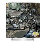 Time To Ride Shower Curtain