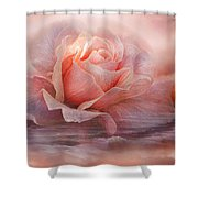 Time To Say Goodbye Rose Shower Curtain