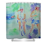 Time To Tri Shower Curtain