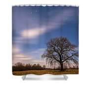 Time Traveler Shower Curtain by Davorin Mance