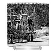 Time Travelers Bw Shower Curtain