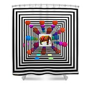 Time Tunnel Shower Curtain