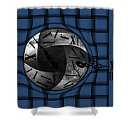 Time Weaves Shower Curtain