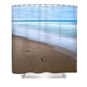 Time - Zmudowski State Beach In Monterey County Ocean Slow Waves. Shower Curtain