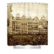 Timeless Grand Place Shower Curtain by Carol Groenen