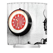 Times Red Shower Curtain